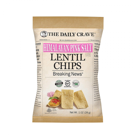 The daily crave lentil chips 28 g