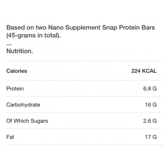 Protein SNAP Bar