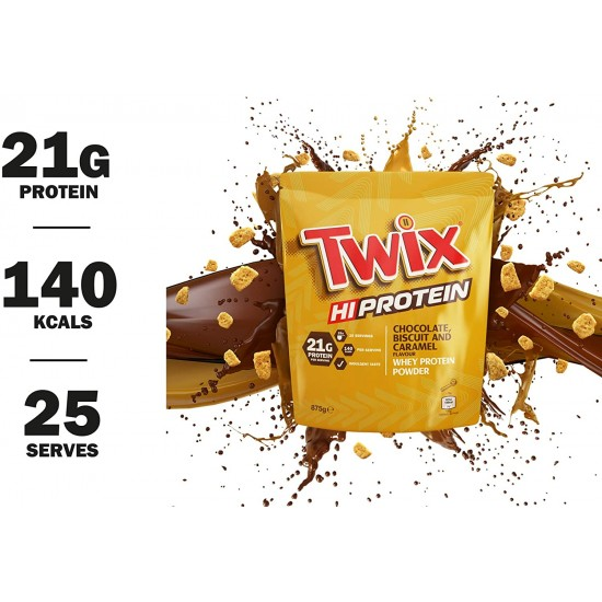 Twix HiProtein Whey Protein Powder CHOCOLATE, BISCUIT and CARAMEL 875g