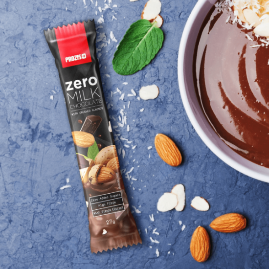 Prozis Zero Milk Chocolate With Almound Bar