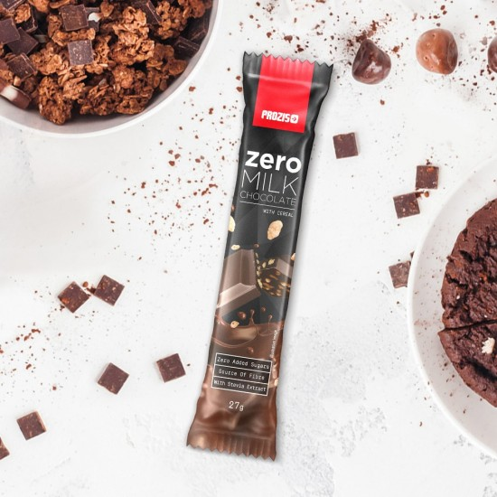 Prozis Zero Milk Chocolate With Cereals Bar
